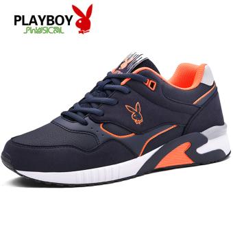 Harga PLAYBOY Siswa Peninggi Kasual Sepatu Sepatu Pria (Biru Tua Warna) d623d11aed