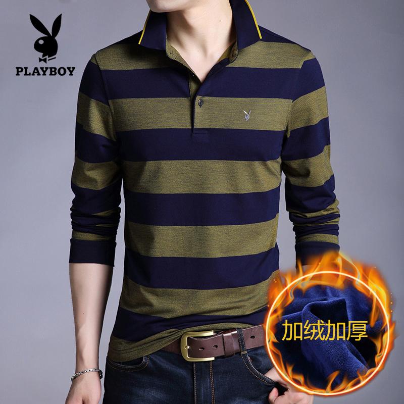 PLAYBOY Tambah Beludru Musim Dingin Lebih Tebal Baru T-shirt (88-q9829 Kuning