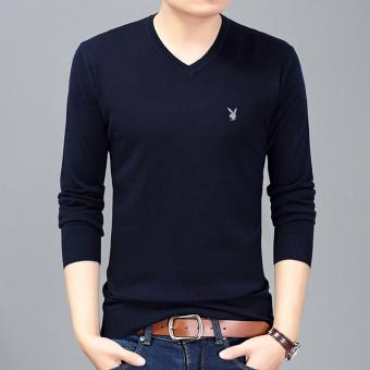 Tren Musim Panas Pria Lengan Pendek T Shirt Kemeja Kecil Ras Ling Source · Terbaik Murah PLAYBOY warna solid bagian tipis v neck pria muda t shirt t