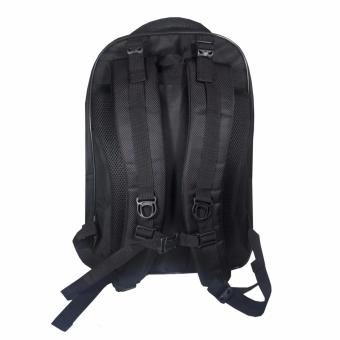 ... PoIo Ace Tas Ransel Pria 18 Inchi 0352 Material Nylon Waterproof Original - Black + Raincover ...