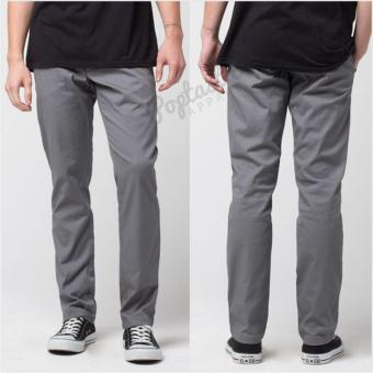POPS Celana Chino Pria Slim Fit - Grey