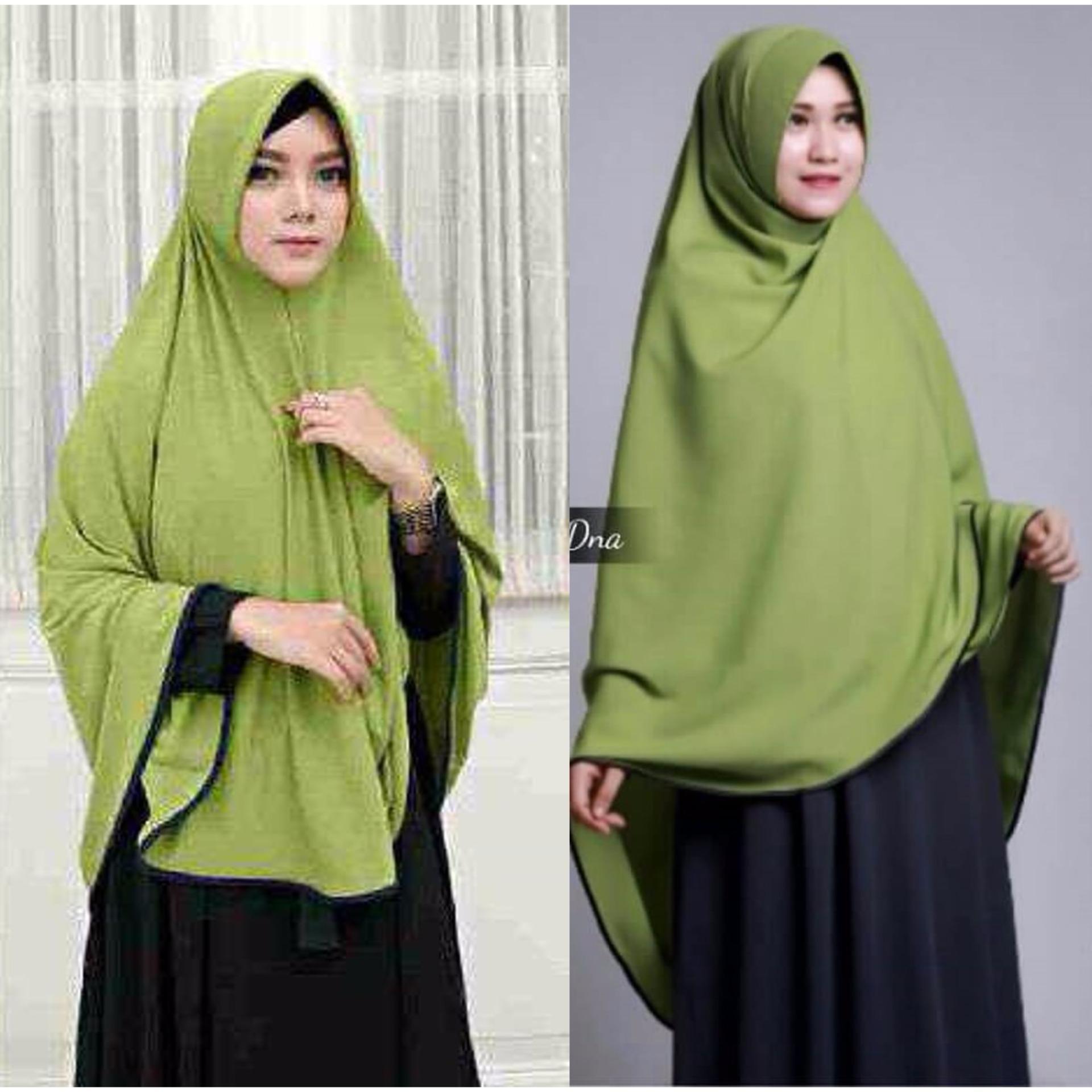 Premium Jilbab Syari Tanpa Pet Model Khimar Dhea Free Bross Pita Hijab Ainun Instant Aneka Warna Toko Berkah Online