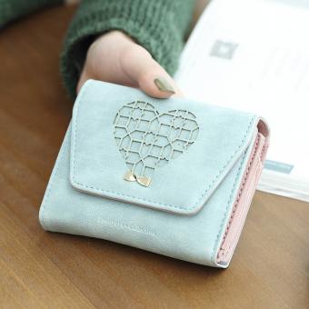 Prettyzys lucu dompet siswa perempuan di Jepang dan Korea Fashion Style catok dompet Biru