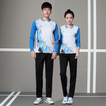 Beli Pria Dan Wanita Model Pasangan Lengan Panjang Atasan Baju Bulutangkis  (Model Wanita Dan Celana Panjang Hitam Set) Terpercaya 52a0144260