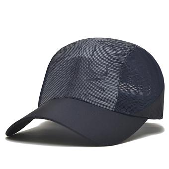 Pria dan wanita musim panas topi baseball topi topi (Biru tua)
