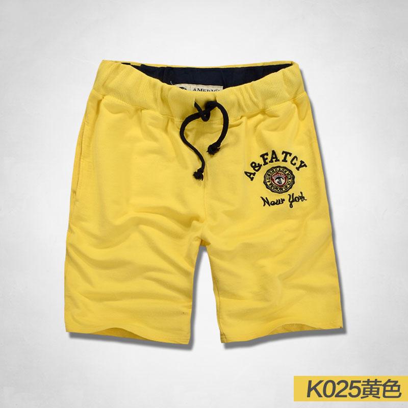 Cheap online Pria katun kasual pria renda lima celana celana celana pendek (Kuning)