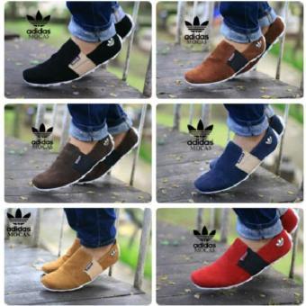 harga Promo !!!, Sepatu Casual , Adidas Mocas , Sepatu Santai , SepatuSlop , Sepatu Slip On ( HITAM ) Lazada.co.id