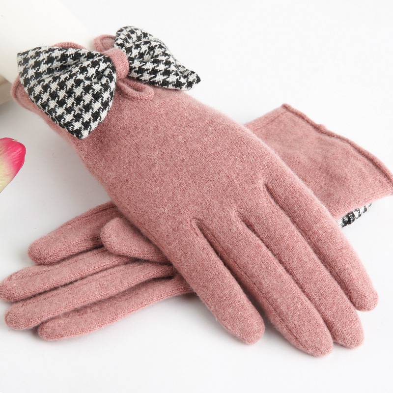 Flash Sale Ptah Korea Fashion Style ditambah beludru perempuan besar Cooljie hangat sarung tangan wol sarung