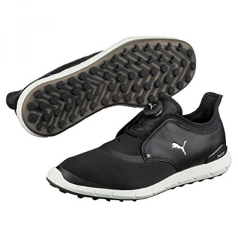 Puma Golf Mens Ignite Spikeless Sport DISC Sepatu, Puma Black-Puma Silver, Medium KAMI-Internasional
