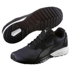 Puma IGNITE Dual Breathe Sepatu Running - Black/White