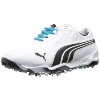 PUMA Mens Biofusion Golf Shoe,White/Black,9.5 M US - intl