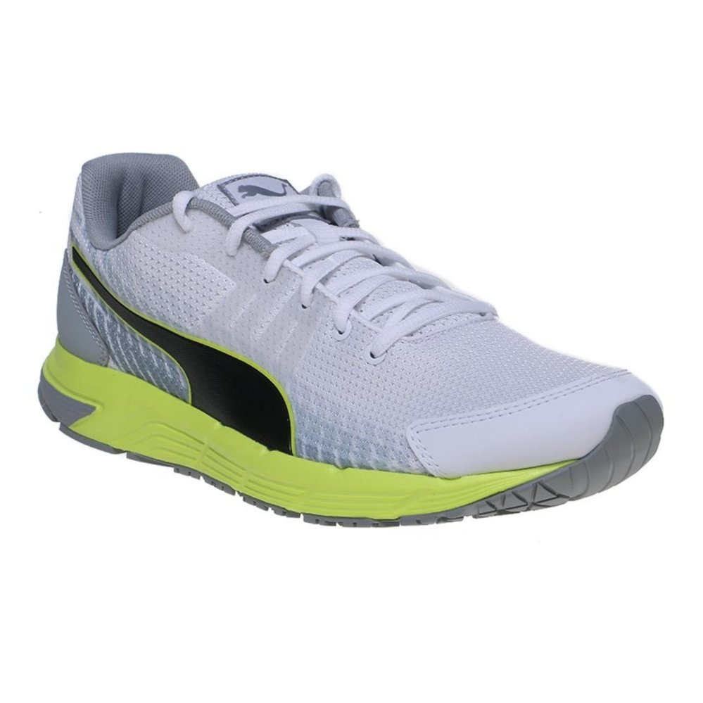 ... Puma Sequence v2 Men's Running Shoes - White-Safety Yellow | SepatuLari ...