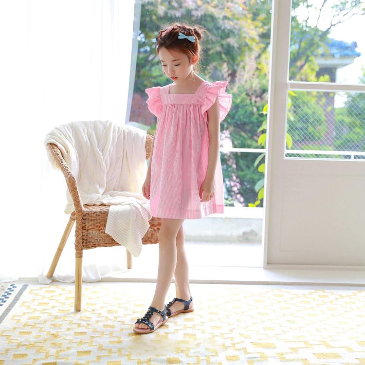 Putri Zhongshan University gadis lengan pendek gaun (Merah muda)