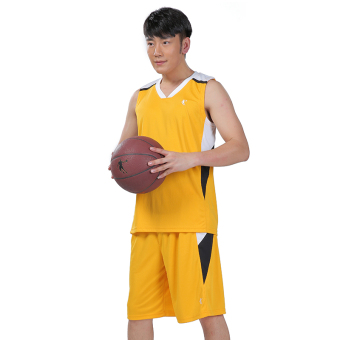 Qiaodan Nyaman Musim Panas Bernapas Dengan Olahraga Pakaian Basket (Gardenia warna (dapat dicetak ukuran font)) (Gardenia warna (dapat dicetak ukuran font))