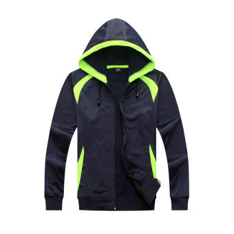 Harga Qiudong 7613684b-8 jaket kustom jersey sepak bola pelatihan jas (Hitam dan hijau warna) Murah