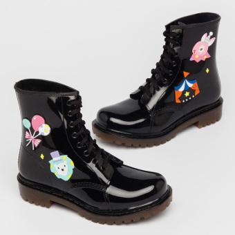 Daftar Harga Qiudong busana datar tabung pendek warna solid sepatu sepatu air overshoes (Sirkus Martin