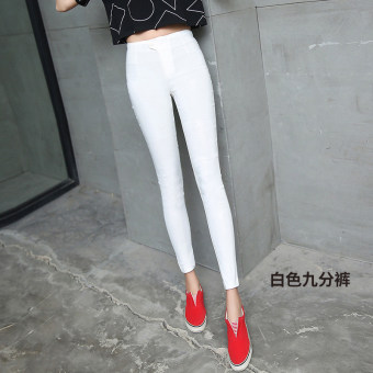 Online murah Qiudong ditambah beludru hitam legging kaki celana stretch legging ([2016 dengan ritsleting