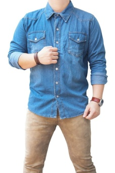 QuincyLabel Denim Jeans Shirt - Dark Blue