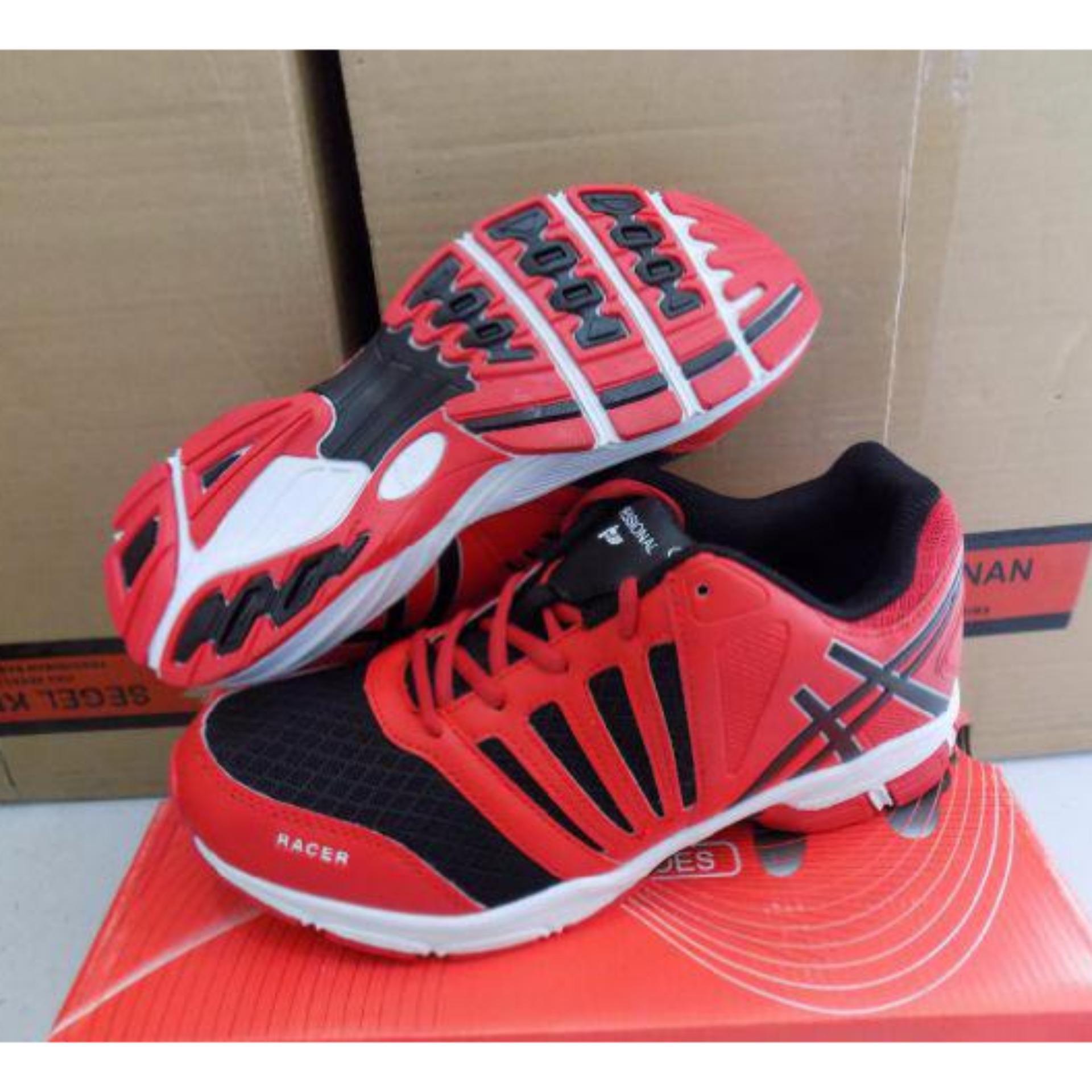 Flash Sale Racer Sepatu Lari Profesional - Merah Hitam
