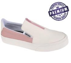 Raindoz Sepatu Slip On Wanita Putih pink - RAK 031