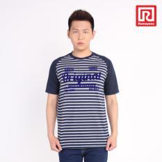 Ramayana - A/X House - Kaos T-Shirt Pria Original - Oblong – Salur Fider – Navy – A/X House (07973378)