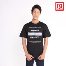 Ramayana - Super R - Kaos T-Shirt Pria Premium Oblong  Tetoron Cotton Hitam – Super R (07972852)