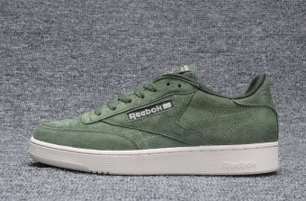 Reebok Mens Casual Shoes Nubuck Suede Loafer Shoes Reebok Club C New Fashion Skateboard Shoes(army green) - intl