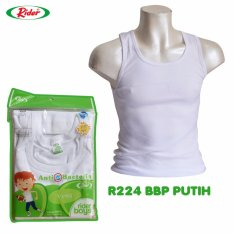 Rider Boys R224BBP Vest - Putih - Kaos Dalam Anak Laki-laki