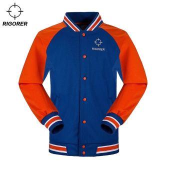 Beli RIGORER Laki-laki Semi Dan Lengan Panjang Kaos Sweater Bola Basket Bermain Pakaian (02Y Merah/Hitam) Online