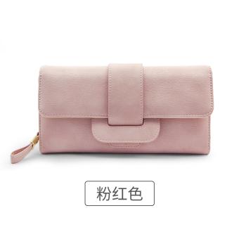 Rinka Doll Korea Fashion Style Baru Perempuan Multifungsi Dompet Dompet (Merah Muda Warna)