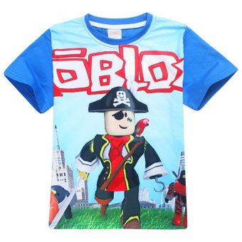 ROBLOX Boys' 105-155cm Body Height Cotton T-shirts(Color:Red) -intl - 5