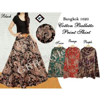 Rok payung batik balleto , G-rock , (purple, orange , black,tosca)