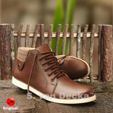 S. Van Decka RC022K Sepatu Kasual Pria - Kopi