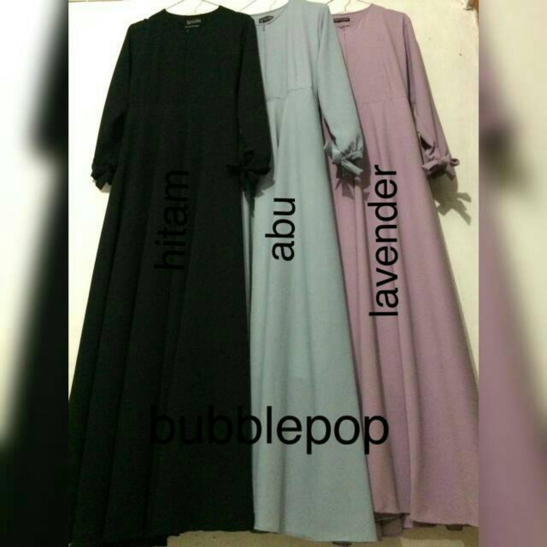 Anggaran Terbaik Sale Promo Gamis Murah Wanita Busana  03 Muslim Syari Bubblepop Polos Premium