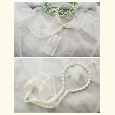 Sales New Astar Fashion 1 PC Lace Imitated Pearl Hair Head Band Hoop Headwear Hair Accessories(Black) - intl