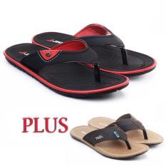 Salvo sandal pria / sandal pria kulit / sandal pria casual / sandal pria dewasa / sandal murah / sandal promo / sandal kasual JM17 hitam free ZR coklat