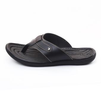 ... SALVO Sandal pria warna hitam - 5