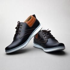 Salvo sepatu kasual pria RK01-Hitam