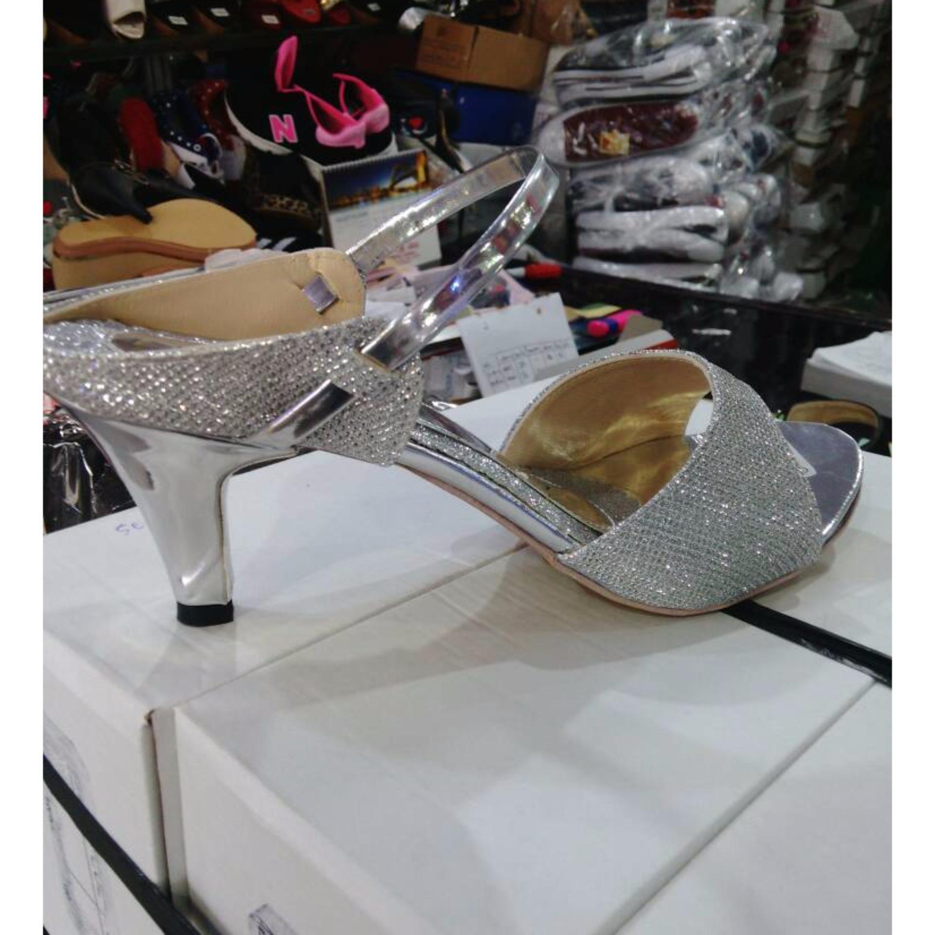 Sepatu Sandal High Heels Lj05 Wanita Glitar Silver - Daftar Harga ... e0390e0262