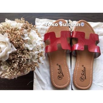 Diskon Sandal Teplek Flat Herme - Merah Harga Diskon RP 25.000 Beli  Sekarang !!! 1bb18b82bb
