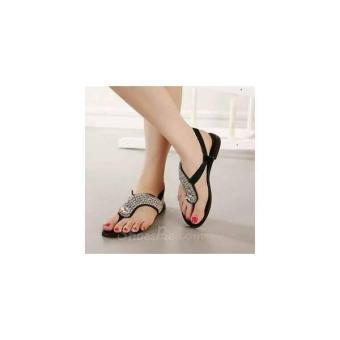 Sandal Wanita Teplek Flat Shoes Jepit Manik TP25