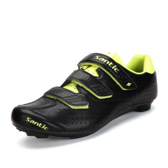 Santic nilon bawah sepeda sepatu mengendarai sepatu sepatu (Neon kuning model laki-laki)