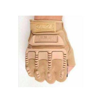 Sarung Tangan Glove Tactical Army Military Bikers M-PACT MECHANIXHalf Finger - Cream