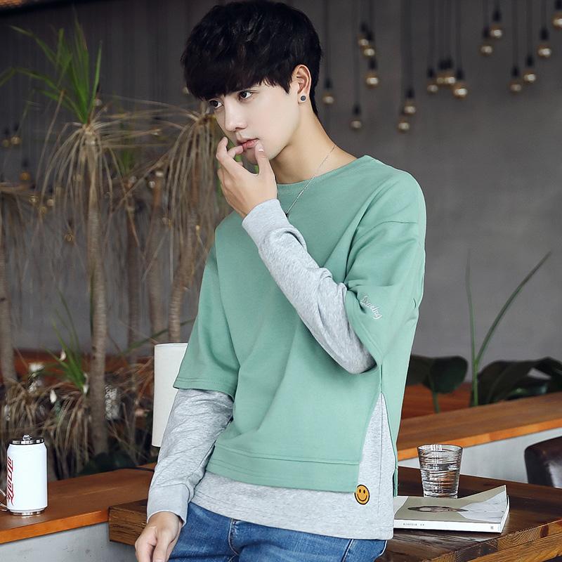 Flash Sale Sastra laki-laki berkerudung jaket mahasiswa laki-laki kemeja sweater (Hijau)
