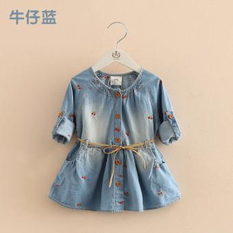 harga Sayang Qz-3132 Korea Fashion Style Baru Anak-anak Kartun Rok Rok Jeans (Denim biru) Lazada.co.id