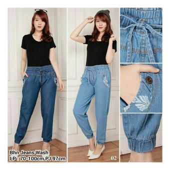 Sb Collection Celana Santi Joger Jeans Long Pant-Biru Tua