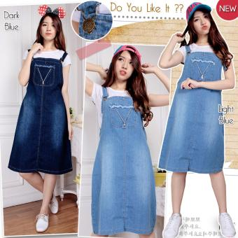 SB Collection Trias Jeans Overall - Biru Muda Free Inner