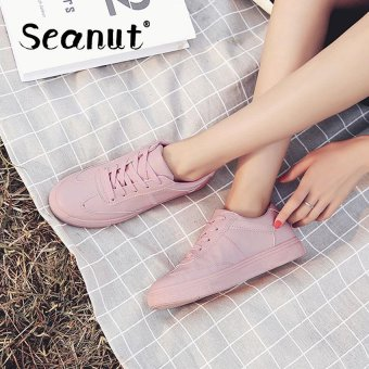 Seanut Fashion Sneakers Women Casual Sports Lace Up Shoes(Pink) -intl