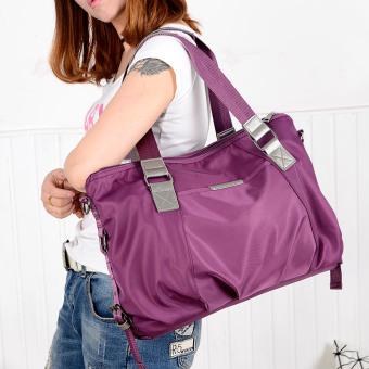 Sederhana nilon oxford kain tas tas besar baru tas wanita (Ungu 1139 nilon tas besar