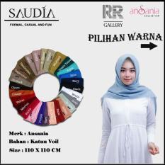 Segiempat rawis saudia ansania polos - jilbab hijab kerudung bahan adem nyaman digunakan